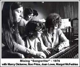 """Mixing Songwriter: Marcy Dicterow, Boo Price, Joan Lowe, Margot McFedries"""