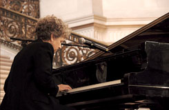 Margie Adam playing the piano 2009