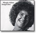 Margie Adam. Songwriter album cover