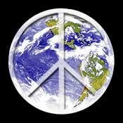 Earth and Peace Sign