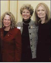 Margie Adam with Carole King and Gloria Steinem