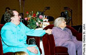 "Phyllis Lyon & Del Martin listening to ""Goin' to the Chapel"