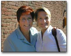 Ellen Toplin with Stephanie Simon