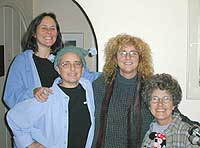 left to right Kerry Lobel, Jeannette Wrate, Diane Lindsay and Margie Adam
