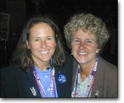 Kerry Lobel and Margie Adam