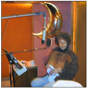 "Here's Margie Adam, in the midst of ""the light of Avalon,"" recording her vocals."