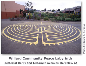 Willard Community Peace Labyrinth, Telegraph and Derby Streets, Berkeley, CA